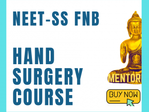 Neet ss Fnb hand surgery and micro surgery Mch mcq question bank mock exam online course
