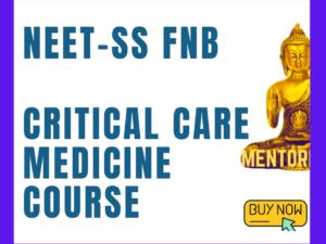 critical care medicine neetss mcq