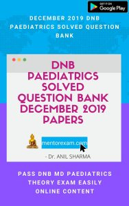 dnb md pediatrics solved question bank papers answers