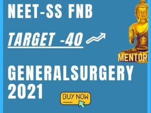 Target-40 NEET-SS MCh Genereal Surgery mcq mock exam course