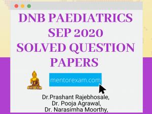 DNB Paediatrics September 2020 Solved Paper
